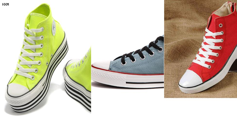 imagen de zapatillas converse de mujeres