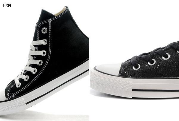 zapatillas converse bajas negras