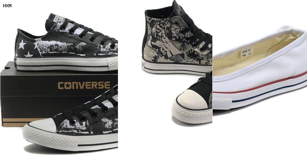 zapatillas converse negras cuero